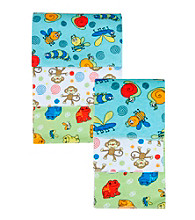 Trend Lab 3-pk. Flannel Blanket and Burp Set - Bugs