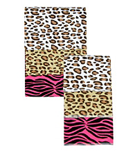 Trend Lab 3-pk. Flannel Blanket and Burp Set - Animal Print
