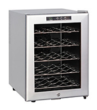 Sunpentown® 20-Bottle Thermo-Electric Wine Cooler with LED Temperature Display