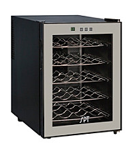 Sunpentown® 20-Bottle Thermo-Electric Wine Cooler with Touch-Sensitive Control Panel and LED Temperature Display