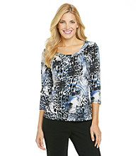 Laura Ashley® Mixed Animal Print Tee