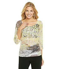 Laura Ashley® Brushed Animal Sublimation Top