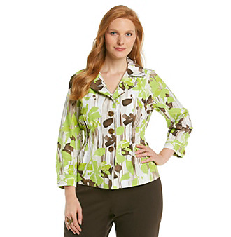 Laura Ashley® Plus Size Lemongrass Floral Jacket