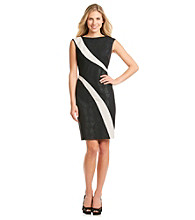 Adrianna Papell® Colorblocked Jacquard Sheath Dress