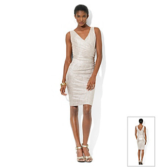 Lauren Ralph Lauren® Metallic Sheath Dress