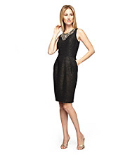 Alex Evenings® Jacquard Pocketed Sheath Dress