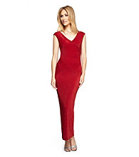 Alex Evenings® Long Ribbed Column Cocktail Dress