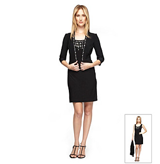 Alex Evenings® Jacket and Dress With Sequined Neckline