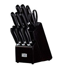 Chicago Cutlery Kinzie 14-pc. Black Knife Set with Block