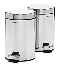 Cuisinart® Set of 2 Stainless Steel Vanity Trash Cans