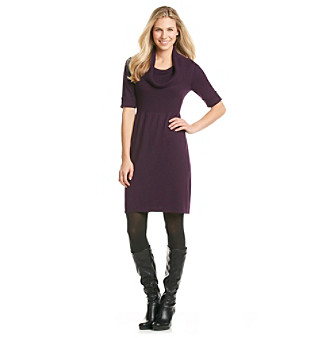 Evan-Picone® Cowlneck Sweater Dress