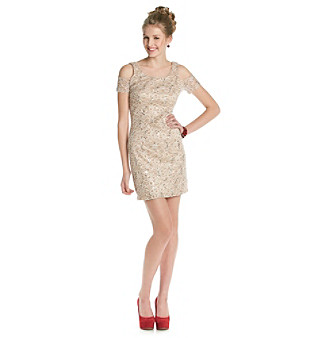 Bee Darlin' Champagne Lace Dress