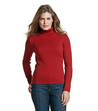 Jeanne Pierre® Petites' Baby Cable Turtleneck Sweater