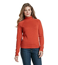 Jeanne Pierre® Petites' Flat Knit Turtleneck Sweater