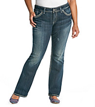 Silver Jeans Co. Plus Size Suki Surplus Curvy Fit Mid-Rise Bootcut Jeans