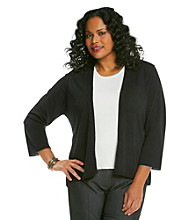 Notations® Plus Size Cardigan Sweater