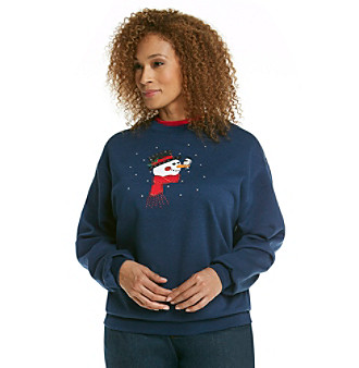 Morning Sun® Plus Size Embroidered Sweatshirt