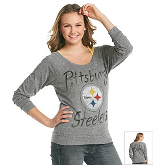 Junk Food Juniors' Steelers Off Shoulder Raglan