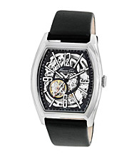 Kenneth Cole New York® Men's Automatic Black Leather Strap Watch