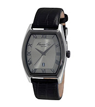 Kenneth Cole New York® Men's Classic Black Leather Strap Watch