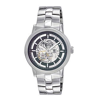 Kenneth Cole New York® Silvertone Men's Automatic Stainless Steel Bracelet Watch