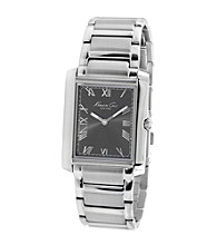 Kenneth Cole New York® Men's Silvertone Slim Tank Stainless Steel Bracelet Watch