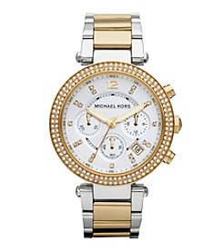 Michael Kors Two Tone Gold/Silver Parker Watch