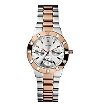 Guess Women's Two Tone Feminine Hi Shine Mid Size Sport Watch