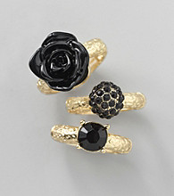 Erica Lyons® Black Stretch Ring