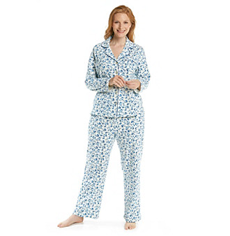 Intimate Essentials® Plus Size Knit Classic Pajama Set - Sweetpea Floral
