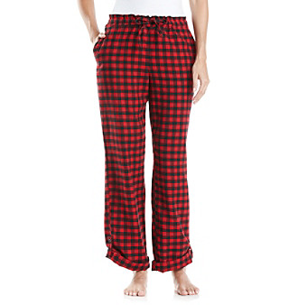 Relativity® Flannel Sleep Pants - Red Buffalo Check