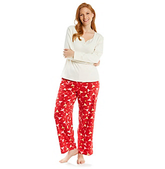 Intimate Essentials® Plus Size Combo Pajama Set - Red Martini