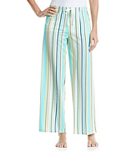 Jockey® Turquoise Staggered Stripe Knit Pants