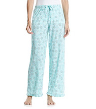 Jockey® Floating Floral Knit Pants - Turquoise