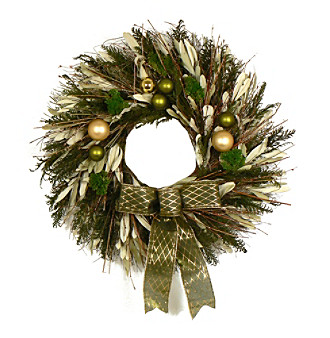 "The Christmas Tree Company 22"" Season's Salutations Dried Floral Wreath"