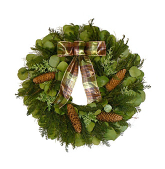 "The Christmas Tree Company 22"" Cedar Forest Dried Floral Wreath"