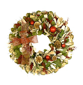 "The Christmas Tree Company 22"" Christmas Celebration Dried Floral Wreath"