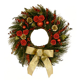 "The Christmas Tree Company 22"" Elegant Tidings Dried Floral Wreath"