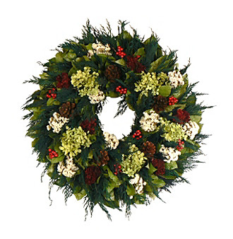 "The Christmas Tree Company 22"" Winter Wish Dried Floral Wreath"