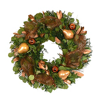 "The Christmas Tree Company 22"" Fruitful Holiday Dried Floral Wreath"