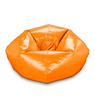 Ace Bayou Orange Vinyl Bean Bag