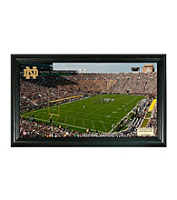University of Notre Dame Stadium Gridiron Photo by Highland Mint