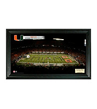 University of Miami Stadium Gridiron Photo by Highland Mint