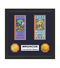 Denver Broncos SB Championship Ticket Collection by Highland Mint