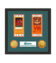 Miami Dolphins SB Championship Ticket Collection by Highland Mint
