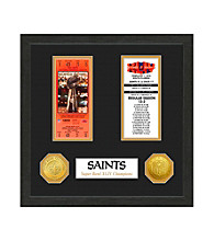 New Orleans Saints SB Championship Ticket Collection by Highland Mint
