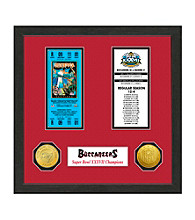 Tampa Bay Buccaneers SB Championship Ticket Collection by Highland Mint