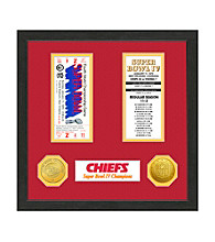 Kansas City Chiefs SB Championship Ticket Collection by Highland Mint