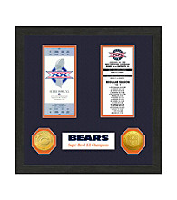 Chicago Bears SB Championship Ticket Collection by Highland Mint