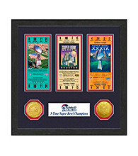 New England Patriots SB Championship Ticket Collection by Highland Mint